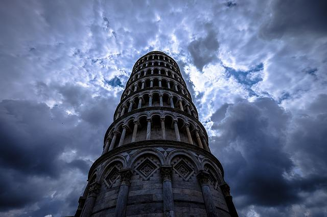 Arches, Leaning Tower Of Pisa, Architecture, Building