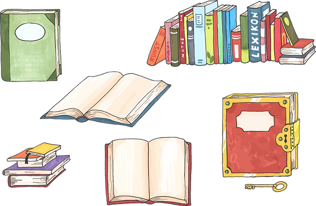 Books, College, Hand Drawn, Learning, Library