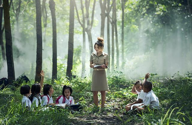Learning, Teacher, School, Outdoor, Pa, Asia, Book