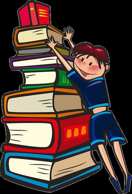 Girl, Books, School, Reading, Learning, Happy, Staple
