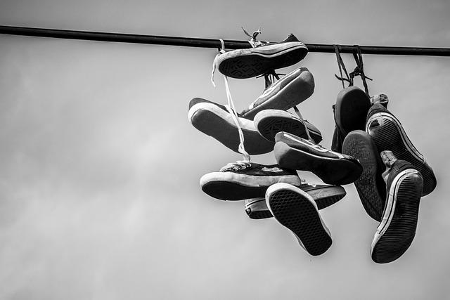 Shoes, Leash, Sneakers, Hang, Shoelaces