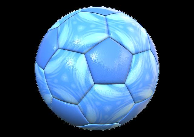 Ball, Football, Sport, Blue, Leather, Imitation Leather