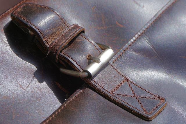 Bag, Leather, Leather Case, Briefcase, Closure, Close