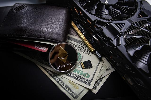 Leather, Business, Cards, Visa, Gold, Cryptocurrency