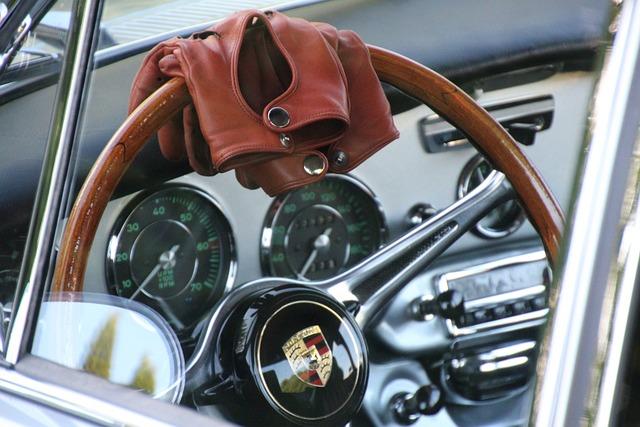 Porsche C, Steering Wheel, Leather Glove