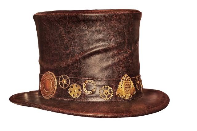 Cylinder, Leather Hat, Steampunk, Hat, Gothic