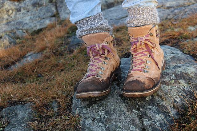 Leather Shoes, Hiking Shoes, Nature, Dirt, Shoes, Stone