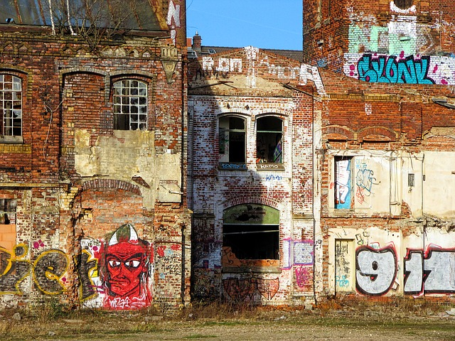 Factory, Building, Old, Lapsed, Ruin, Leave
