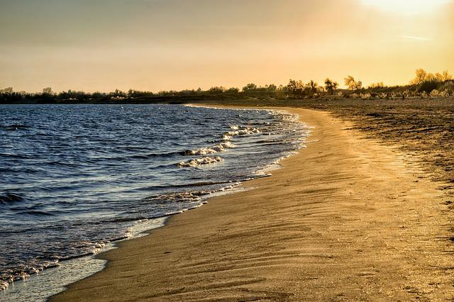 Beach, Sea, Sand, Lonely, Leave, Unaffected, Evening