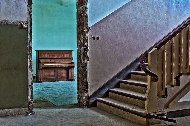 Lost Places, Piano, Building, Leave, Decay, Keys