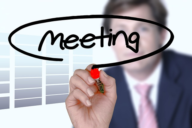 Meeting, Hand, Businessman, Leave, Office, Together