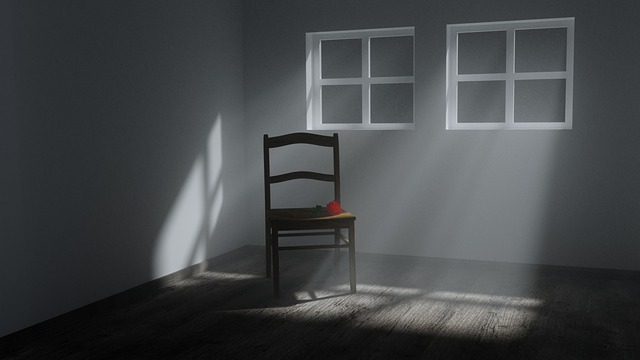 Lonely, Leave, Window, Room, Rose, Chair, Still Life