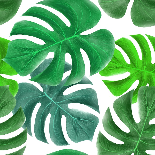 Tropical Greens, Leaves, Design, Picture