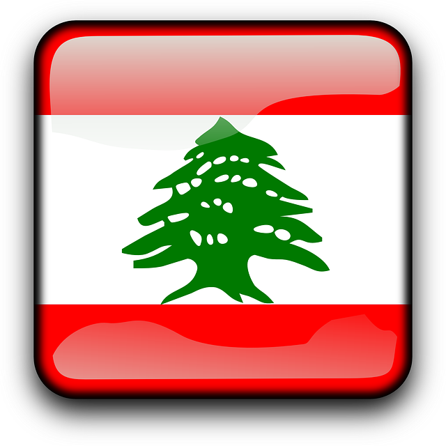 Lebanon, Flag, Country, Nationality, Square, Button
