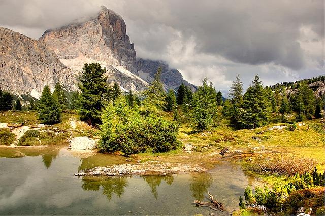Tofane, Lech Limides, Dolomites, Alm, Nature, Blue
