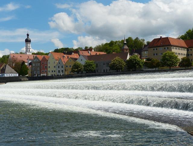 Landsberg Am Lech, Lech, Lechwehr, Weir, Water