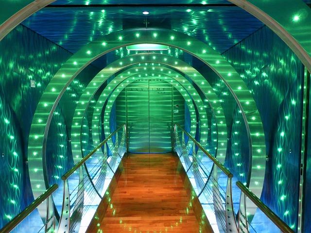 Led-lighting, Gang, Led Lamp, Tunnel, Color