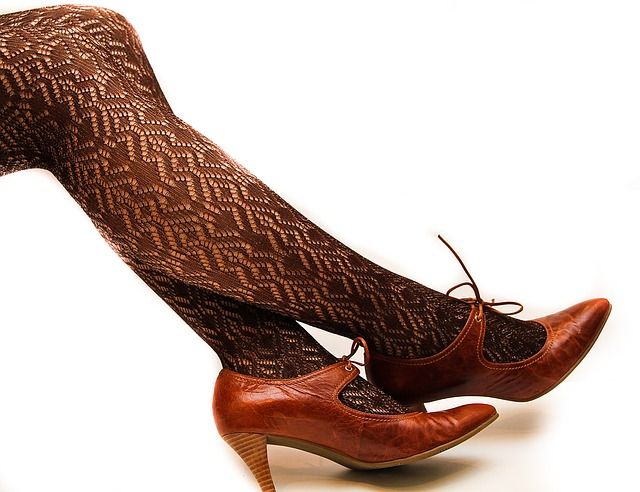 Leggings, Lace, High Heel Shoes