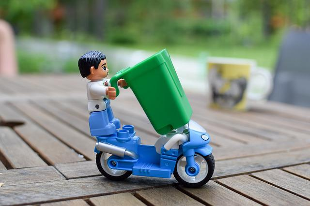 Lego, Duplo, Garbage, Garbage Collection, Recycling