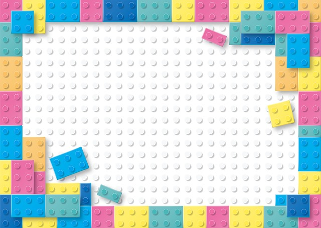 Lego, Pastel, Building Blocks, Children Background