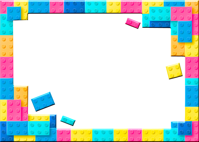 Lego Frame, Lego Building Blocks, Pastel, Frame, Lego