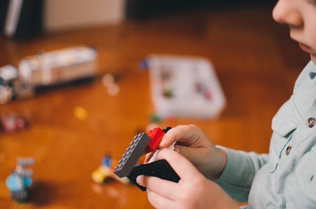 Lego, Blocks, Toys, Boy, Child, People, Playing, Bokeh