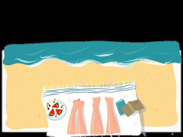 Summer, Vacation, Sea, Joy, Legs, Couple, Love, Book