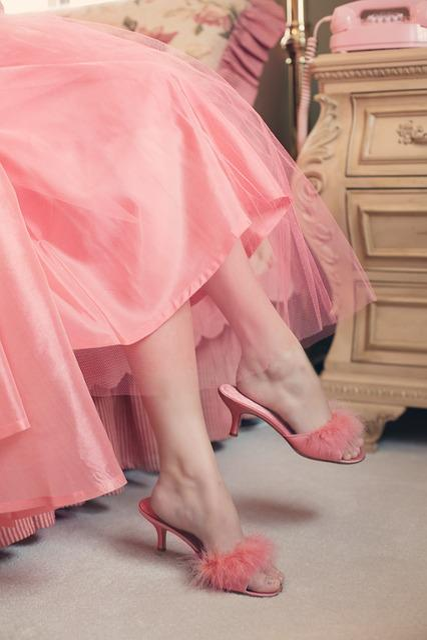 Vintage, Slippers, Elegance, Legs, Pink