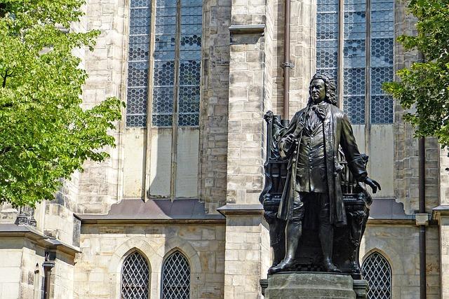 Statue, Bronze, Johann Sebastian Bach, Leipzig