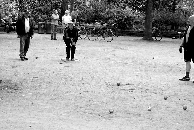 Hamburg, City Park, Boule, Leisure, Pleasure, Men