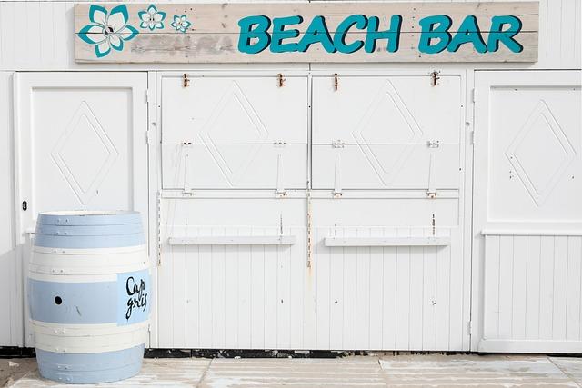 Beach Bar, Beach, Vacations, Summer, Leisure, Relax
