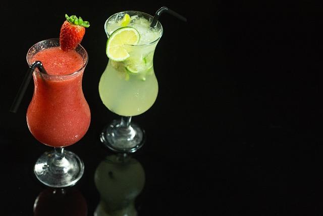 Cocktail, Cocktails, Drink, Lemon, Strawberry