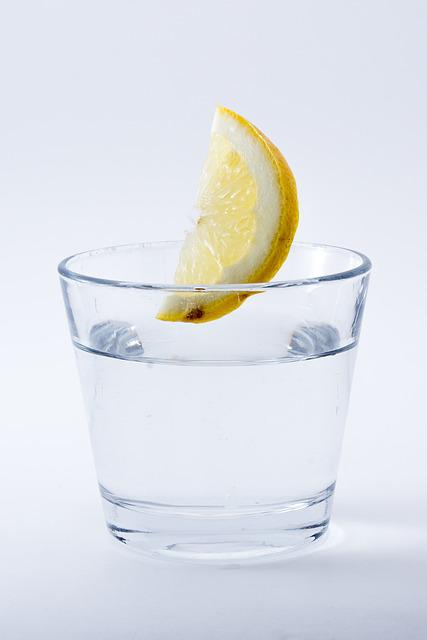 Water, Lemon, Drink, Refreshment, Glass, Immersion