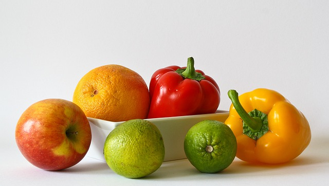 Fruits, Vitamins, Orange, Healthy, Food, Apple, Lemon