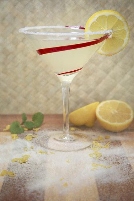 Lemon Drop, Drink, Alcohol, Lemon, Drop, Martini