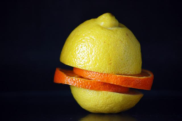 Fruits And Vegetables, Restaurant, Lemon, Orange