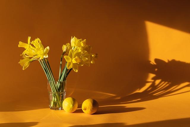Daffodils, Home Decor, Yellow, Lemons