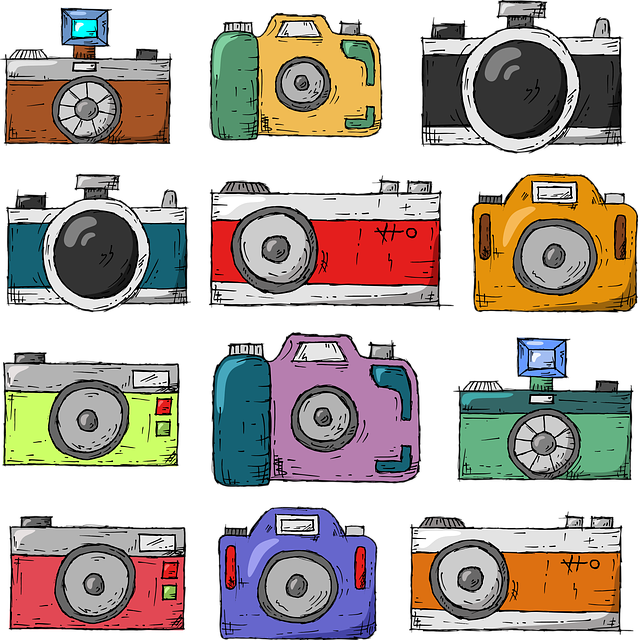 Camera, Hand Drawn, Old, Nostalgia, Retro, Lens