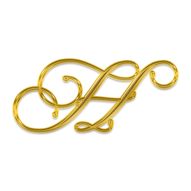 Letter, Alphabet, The Text Of The, Gold, Golden, Font