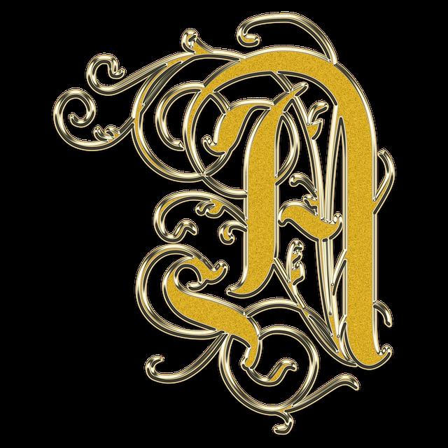 Letter, A, The Letter A, Monogram, Vintage