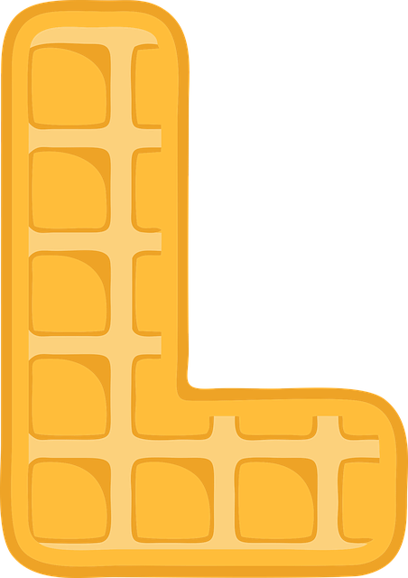 L, Alphabet, Waffle, Letter, Typography, Text, Font