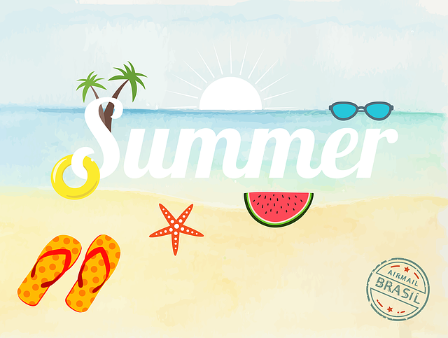 Summer, Vacations, Holidays, Recovery, Lettering, Sun