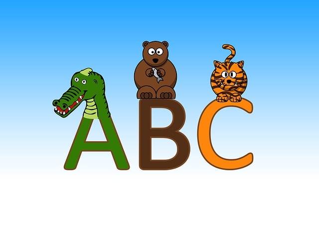 Letters, Abc, Education, A, Crocodile, Bear, Cat