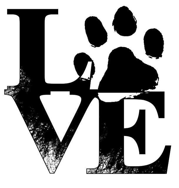 Love, Dogs, Paw Print, Pet, Animal, Canine, Letters