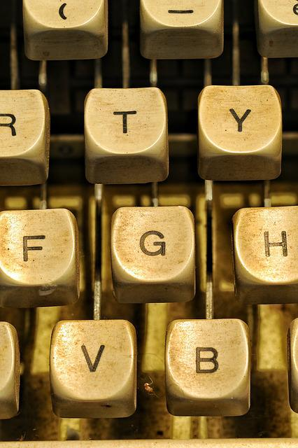 Letters, Machine, Writing, Texture, Journalism, Poetry