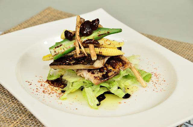 Eel Fish, Lettuce, Dish, Mushroom