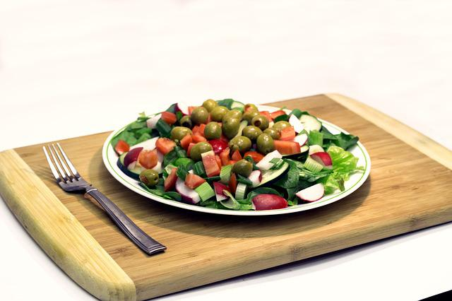 Salad, Lettuce, Olives, Health, Nutrition, Tomatoes