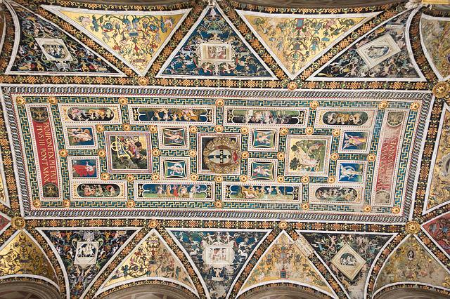 Library, Ceiling Painting, Ornament, Art, Artists
