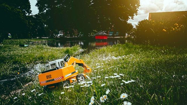 Excavators, Toys, Liebherr, Terrain, Close Up, Vehicle