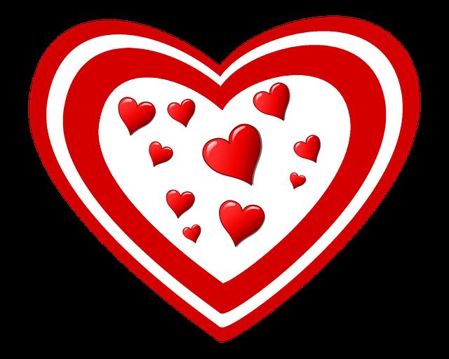Hart, Liefde, Valentijn, Rood Wit, Romantiek, Hartjes